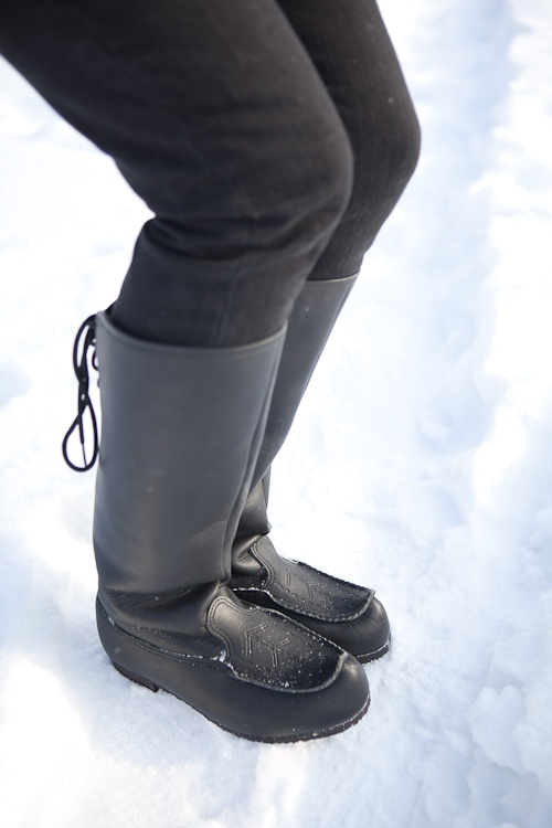 Finnish traditional winter shoes 'Lapikkaat'