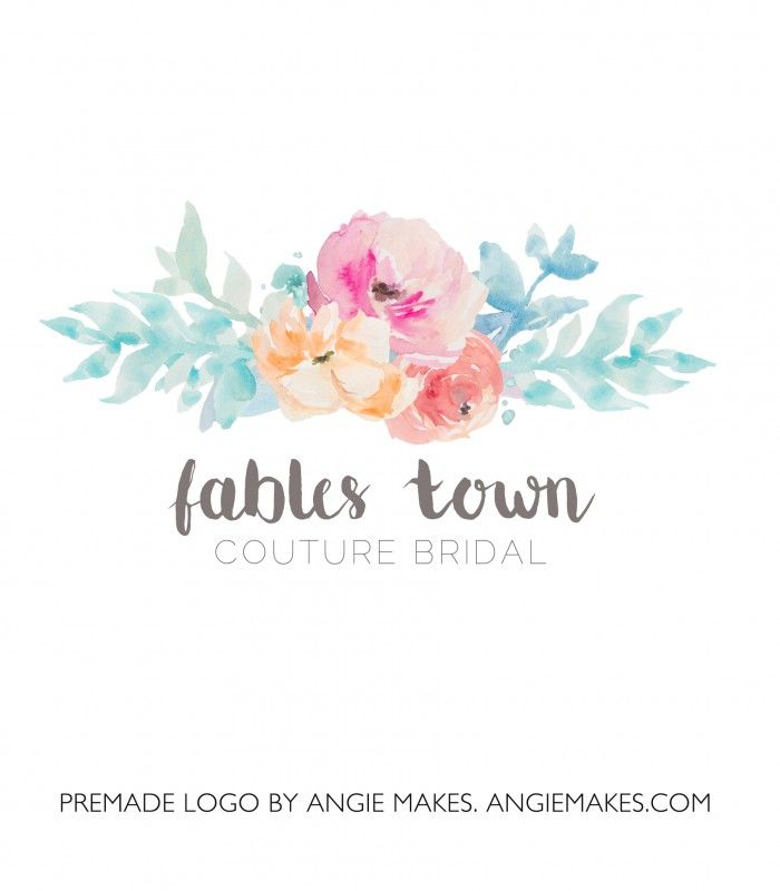 Hand Painted Watercolor Flower Logo | angiemakes.com