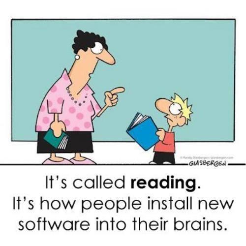 ça s'appelle 'LIRE'.  C'est comme cela que les humains implantent de nouveaux logiciels dans leur cerveau :)