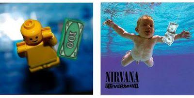 Reproductions de pochettes d'albums célèbres avec des LEGO