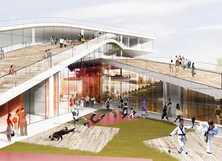Roof Design Ideas: Cultural Center In Denmark / BIG Architects