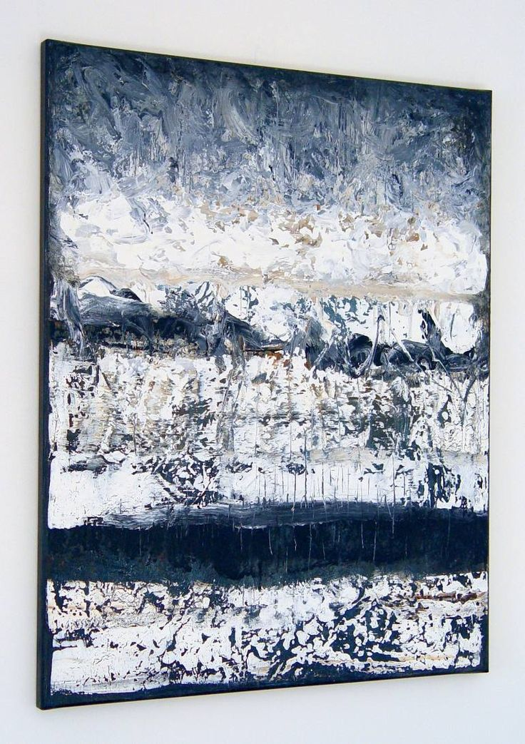 Buy ZR893, a Acrylic on Canvas by Radek Smach from Czech Republic. It portrays: Abstract, relevant to: black, structure, white, contemporary, abstract, grey, layered, minimalism Original abstract layered painting on canvas. Mixed media.  Ready to hang. No framing required (it can be framed). The sides of the painting are painted. Signed on the back