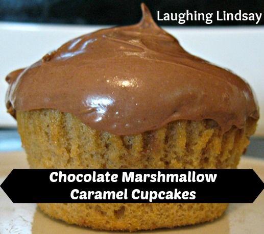 Chocolate Marshmallow Caramel Cupcakes Recipe: Chocolate Cupcakes, Cupcake Recipes, Caramel Cupcakes, Cupcakes Recipe, Recipes Desserts Cupcakes, Cupcakes Biz, Craving Cupcakes