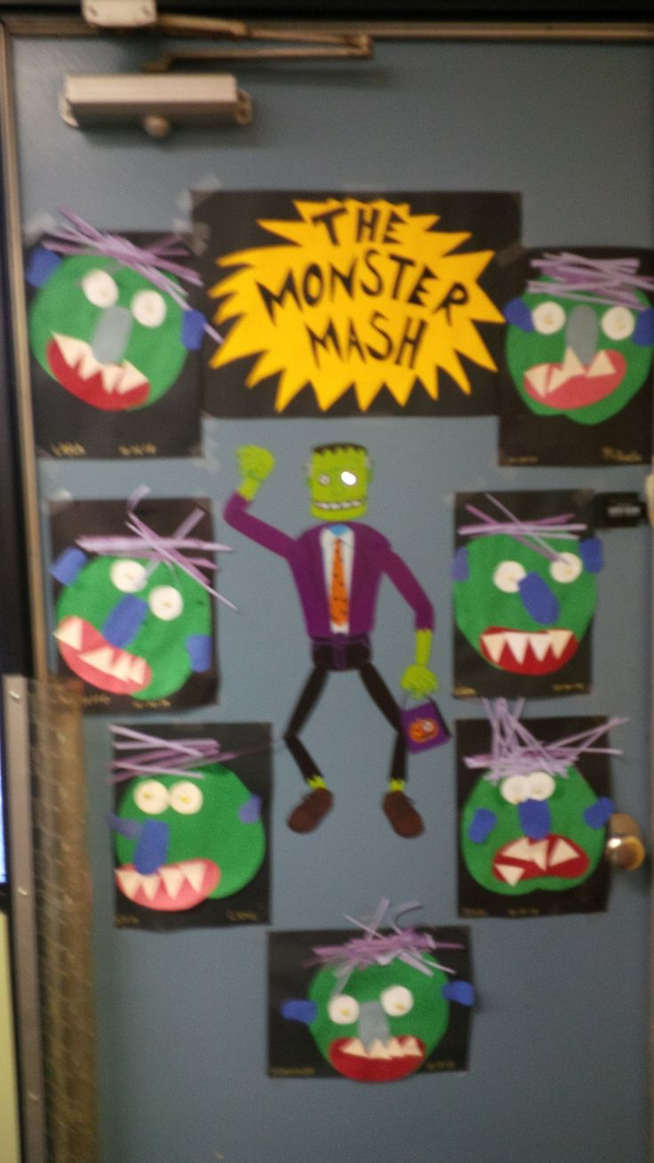 Halloween classroom door decorations ideas - Preschool Or Kindergarten Classroom Door Decoration And Project For Halloween The Monster Mash Make