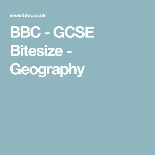 BBC - GCSE Bitesize - Geography