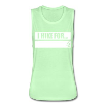 Writeable Declare what you HIKE FOR Women's Flowy Muscle Tank