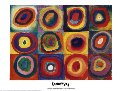 Chin Colle: Kandinsky Torn Circle Collage