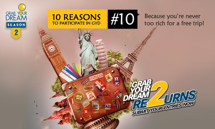 Let's face it, even if you can afford it, how could you resist a free International trip? Participate now: http://cnk.com/participategyd2