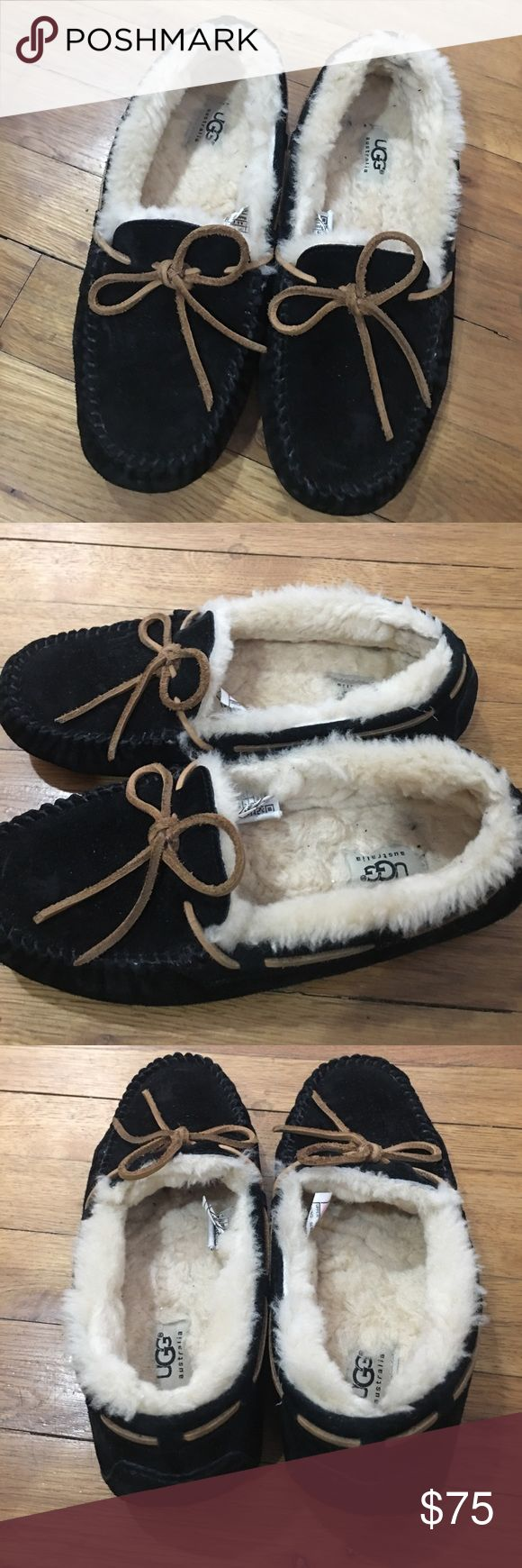 Women's UGG Dakota Moccasins Like new except a small discoloration on the left inside show see pictures the sole isn't worn I only wore these a couple of times UGG Shoes Moccasins