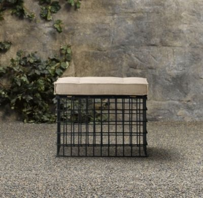 little industrial ottoman, as accentVintage Marketing, Dogs Crates, Side Tables, Outdoor Seats, Restoration Hardware, Vintage Wardrobe, Crates Chairs, Marketing Crates, Vintage Crates