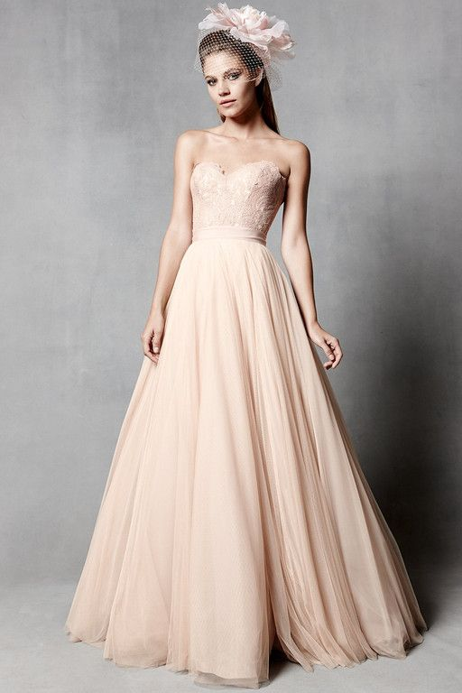 wedding dress lace tulle strapless sweetheart natural waist