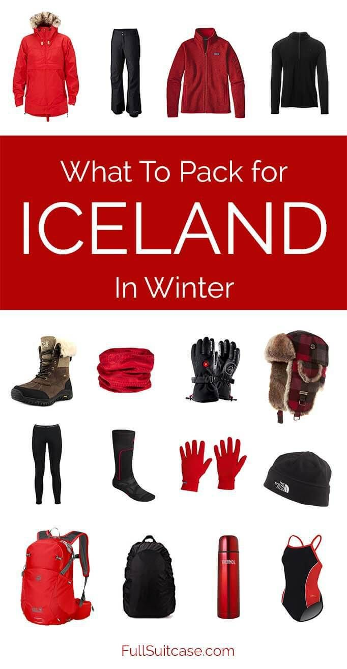 What to wear and what to pack for Iceland in winter. Best #packing #tips #Iceland #winter