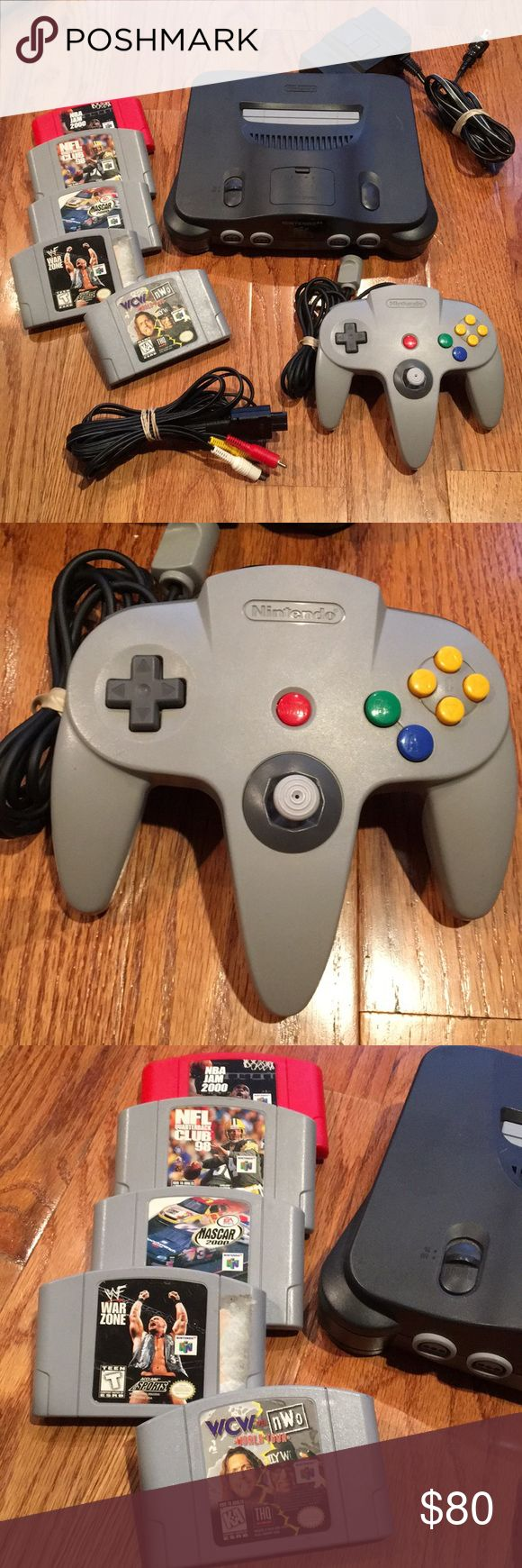 N64 Nintendo system console bundle & games You get all in pic.  The joystick on controller is tight and like new condition.  Everything works and is great condition Nintendo Accessories