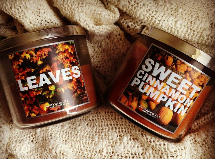 leaves and sweet cinnamon pumpkin by bath & body works.