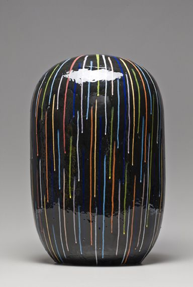 "Jun Kaneko, Artist, Untitled Dango, 2009, glazed ceramics, 25.25"" x 15.5"" x 12"""