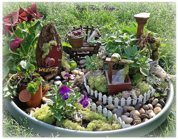 Tiny Steps Point The Way Marbles Succulent Fairy Garden Recycle A Broken  Pot Miniatures Buy Some Moss Layer It Up Hit The Craft Store Gazing Ball
