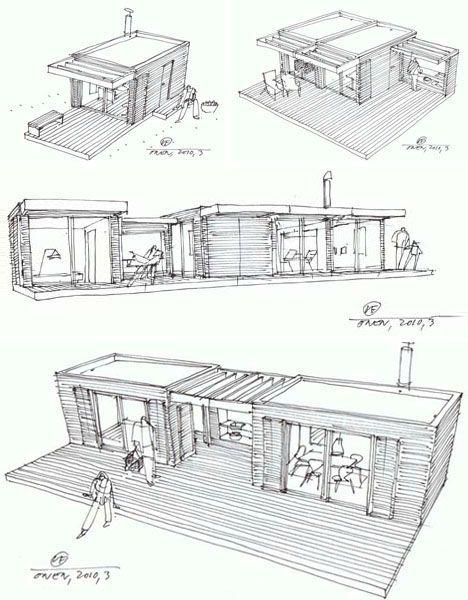 Inspirierend Waldhaus Zuhause Moderne Blockhauser Modulare Kabinen Fertighauser Architektur Skizzen Grune