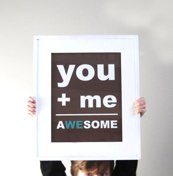 Wedding Signage  You Plus Me Equals Awesome by pumpkinandbutterfly, $18.00