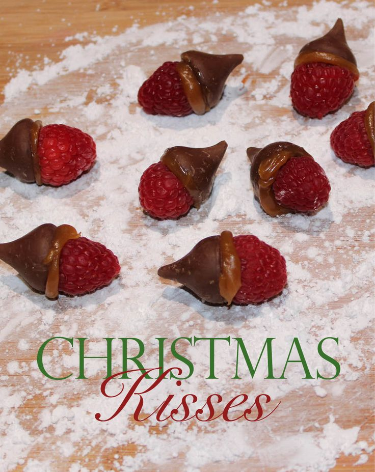 Three ingredient Christmas party kisses? Fresh raspberries, Litehouse Caramel, and classic Hersey's kisses! Delicious, elegant and festive!