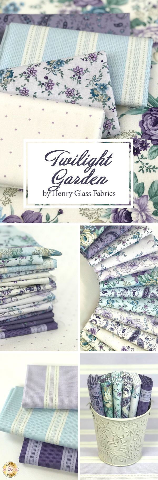 Twilight Garden from Henry Glass Fabrics by Mary Jane Carey is a romantic floral collection available at Shabby Fabrics