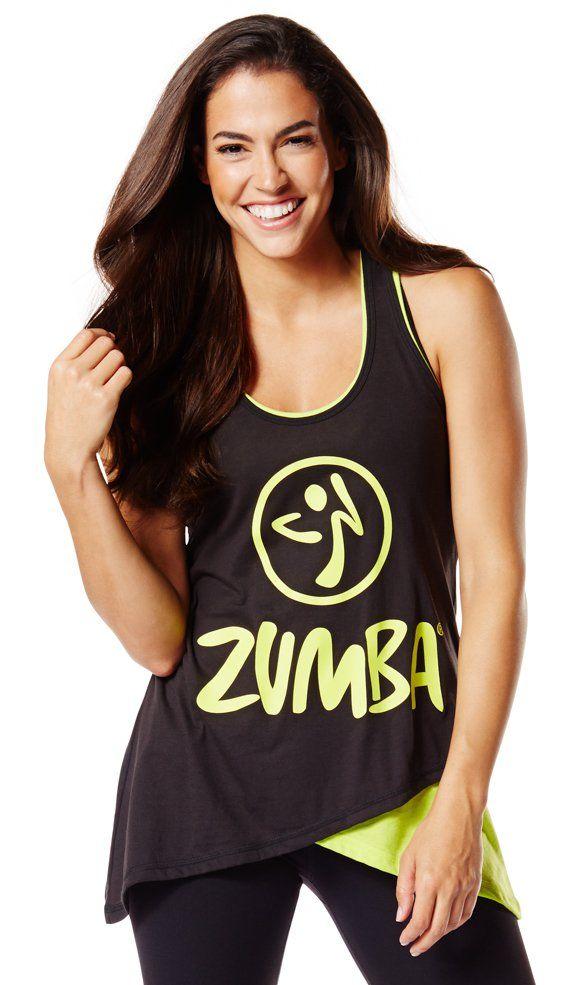 Two-Tone Long Loose Zumba Tank - Zumba Clothing