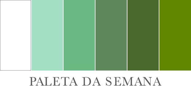 Paleta verde e branco                                                                                                                                                                                 Mais