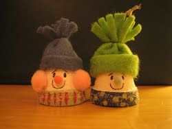 Decorate your space with a Christmas Clay Pot Snowman - use scrap fabric and acrylic paint. #Christmas #craft #tutorial