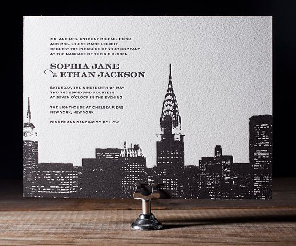 17 Best Images About Cityscape Wedding & Party Invitations