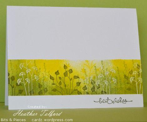 Stamps:  Pocket Silhouettes, Short & Sweet  Inks: Yoyo Yellow, Certainly Celery, Always Artichoke, Versamark