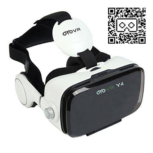 Nouveauté 3D VR Lunettes de Réalité Virtuelle avec Casque pour 4,7 ~ 6,2 Pouces de Smartphone 120 Degrés Champ de Vision pour 3D Films et…