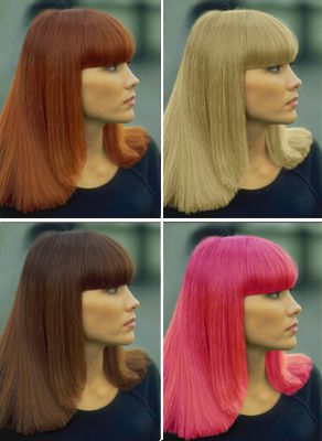 Fake - Images show how easy it is to  change colors in an image. Easier than a trip to the hairdresser....
