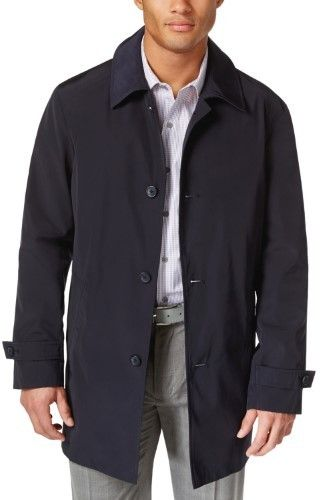 Kenneth Cole New York Ray Mens Raincoat Dark Navy Large L 43-44 $300