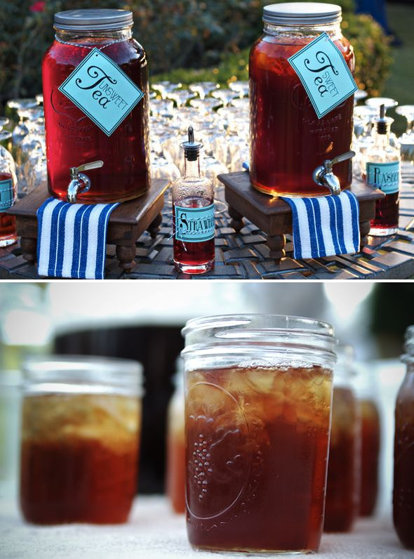 perfect! The sweet tea bar that will be at my wedding!!