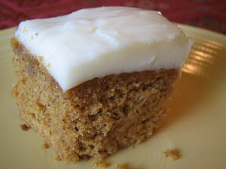 Pumpkin Spice Cake with Honey Frosting | Favorite Recipes | Pinterest