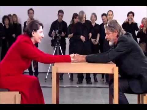 Marina Abramovic and Ulay started an intense love story in the 70s, performing art out of the van they lived in. When they felt the relationship had run its course, they decided to walk the Great Wall of China, each from one end, meeting for one last big hug in the middle and never seeing each other again. In 2010, Marina performed 'The Artist Is Present', a minute of silence with each stranger who sat in front of her. Ulay arrived without her knowing it and this is what happened.