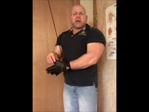 Cubital Tunnel Syndrome Exercise - Reverse Grip Triceps Press Downs - YouTube