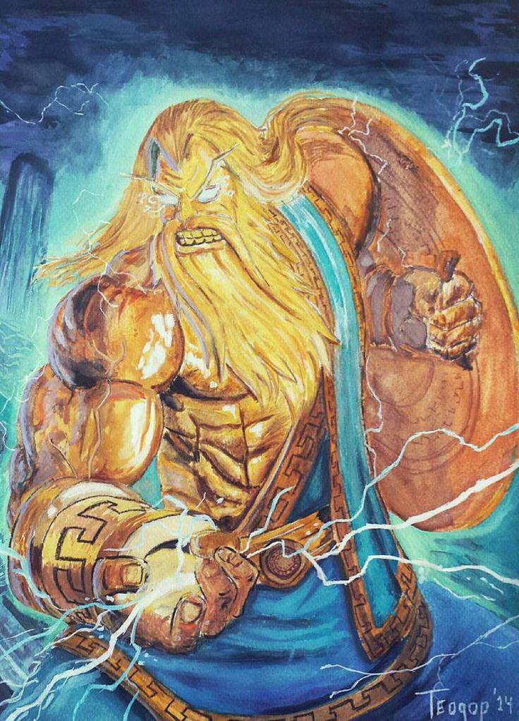 Smite Zeus Fan art by tiodorr on DeviantArt
