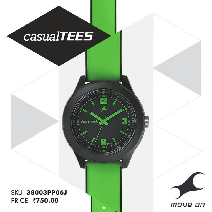 Get yourself a #CasualTEES watch. No harm no foul. http://fastrack.in/casualtees/
