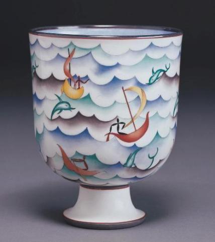Gio Ponti, Coppa Velasca, 1927 - Richard-Ginori - ceramic bowl / vase.