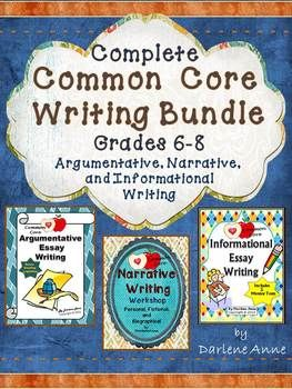 This bundle includes everything you need to teach the three Common Core text types!