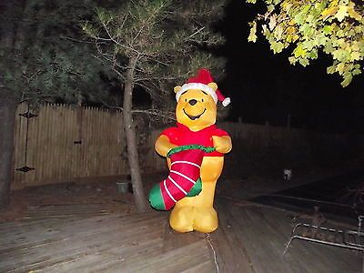 Disney pooh airblown inflatable blow up christmas yard for Airblown nutcracker holiday lawn decoration