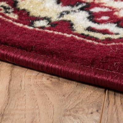"""Charlton Home Bungalow Red Area Rug Rug Size: Runner 2' x 7'2"""""""