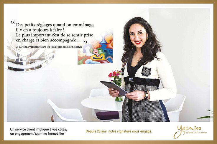 Un service client impliqué à vos côtés , un engagement Yasmine Signature Immobilier.