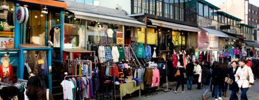 Daerah Myeongdong dan Hongdae pusat pertokoan untuk shopping dg harga yg terjangkau