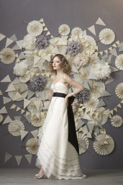 #BHLDN pom, pennant and pinwheel backdrop wedding decor #garlands #pinwheel
