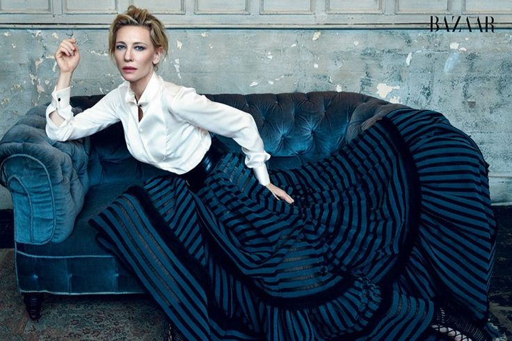 Cate Blanchett by Norman Jean Roy www.normanjeanroy.com for Harper's Bazaar UK @BazaarUK February 2016 #composition #motion