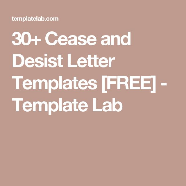 Letter Of Cease And Desist Template Name Your Own Price Stop Paying