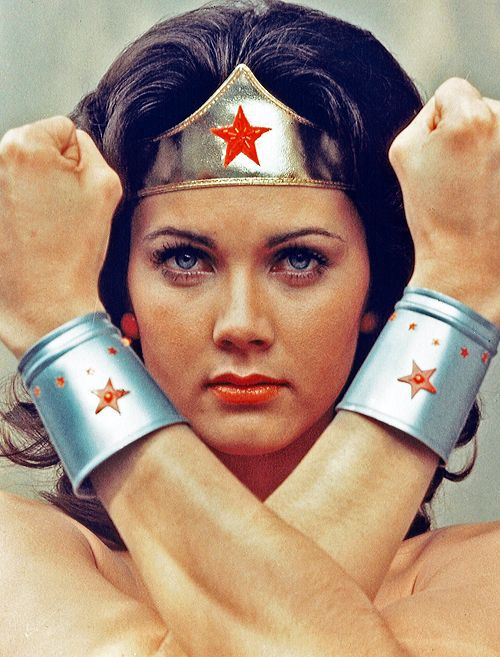 Lynda Carter as Wonder Woman 1970s  LOVED HER!!! ~ all these workouts tonite wore me out! Taking my tight abs and buns to bed! Night all!