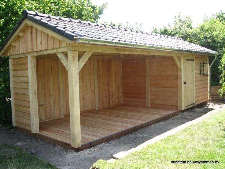 eikenhouten tuinhuis met veranda  Vechtdal Bouwsystemen BV