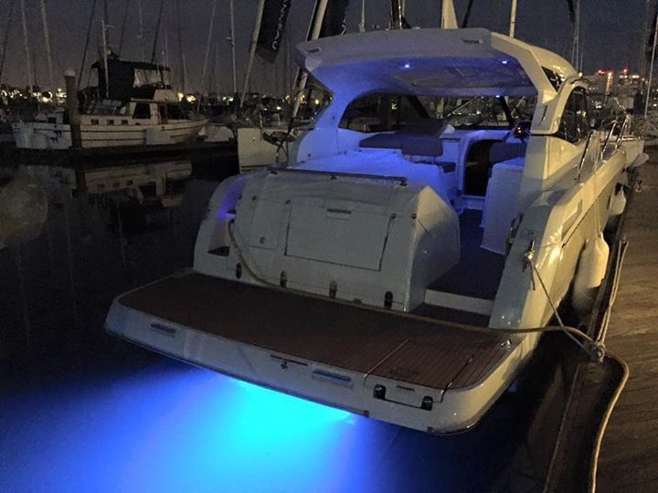 Trick #led #underwaterlights on the #Jeanneau #Leader36 #powerboat for sale in #SanDiego #California #IVTYachtSales
